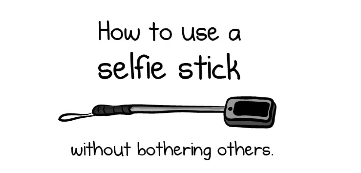 How to use a selfie stick